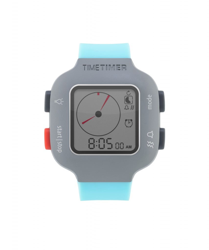 JAC5022BL - Time Timer watch Plus - youth - turquoiseblue - clock mode