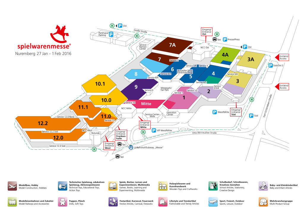 Spielwarenmesse ground plan